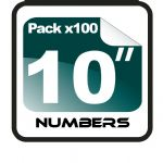 "10"" Race Numbers - 100 pack"